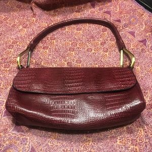 Bueno purse red Brass clean women's classic